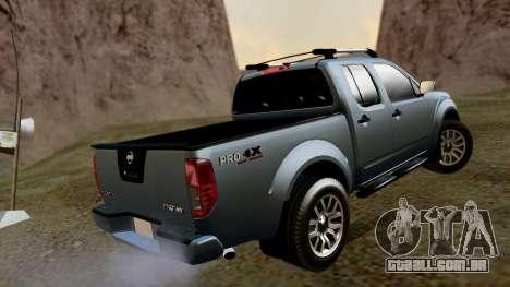 Nissan Frontier PRO-4X 2014 para GTA San Andreas esquerda vista
