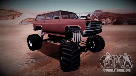 Rancher XL Monster Truck para GTA San Andreas vista interior