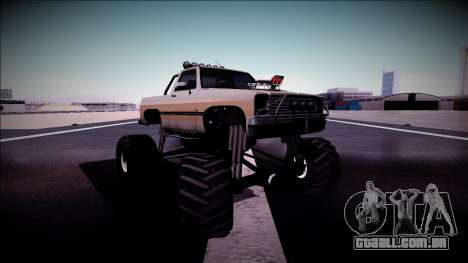 Rancher Monster Truck para GTA San Andreas vista superior