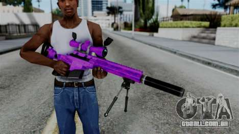 Purple Sniper para GTA San Andreas terceira tela