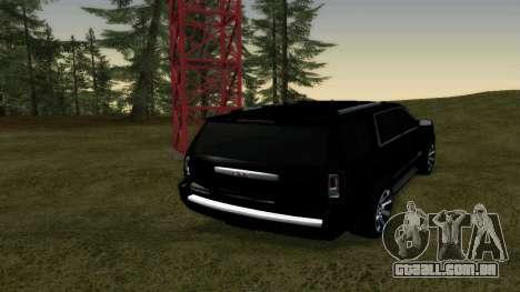 GMC Yukon 2015 para GTA San Andreas traseira esquerda vista