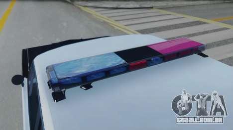 Dodge Dart 1975 v3 Police para GTA San Andreas vista traseira