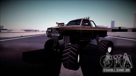Rancher Monster Truck para GTA San Andreas vista inferior