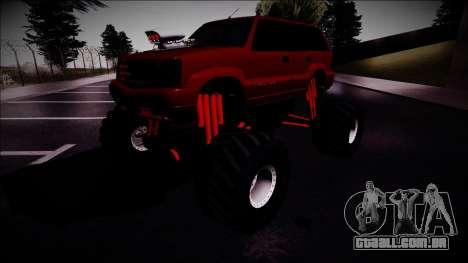 GTA 4 Cavalcade Monster Truck para GTA San Andreas vista direita