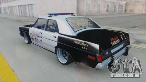 Dodge Dart 1975 v3 Police para GTA San Andreas vista direita