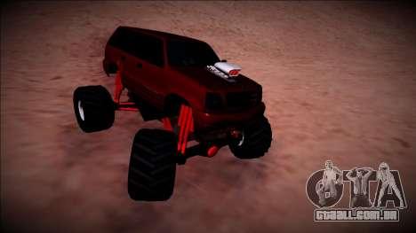 GTA 4 Cavalcade Monster Truck para GTA San Andreas vista interior