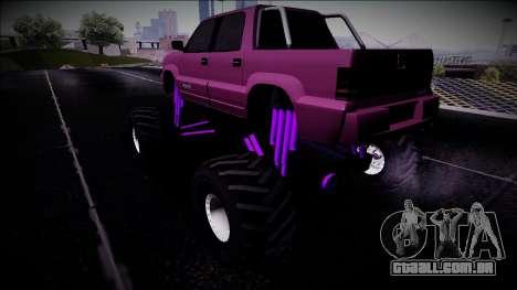 GTA 4 Cavalcade FXT Monster Truck para GTA San Andreas esquerda vista