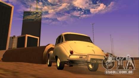 DKW-Vemag Belcar 1001 1964 para GTA San Andreas traseira esquerda vista