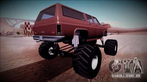 Rancher XL Monster Truck para GTA San Andreas vista direita