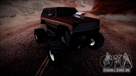 Rancher Monster Truck para GTA San Andreas vista direita