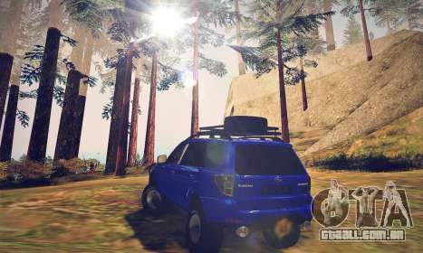 Subaru Forester 2008 Off Road para GTA San Andreas traseira esquerda vista