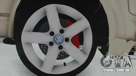Volkswagen Transporter TDI para GTA San Andreas vista traseira