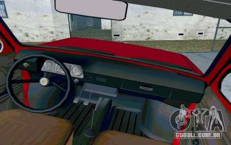 ZAZ 968 para GTA San Andreas vista interior