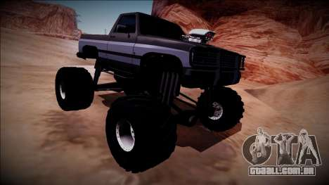 Rancher Monster Truck para GTA San Andreas vista interior