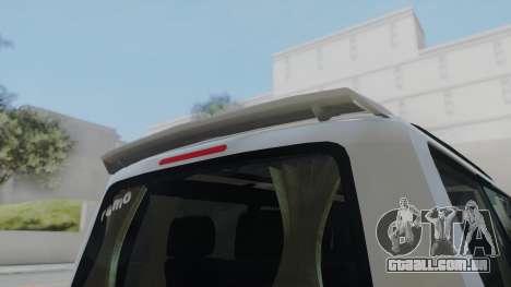 Volkswagen Transporter TDI para GTA San Andreas traseira esquerda vista