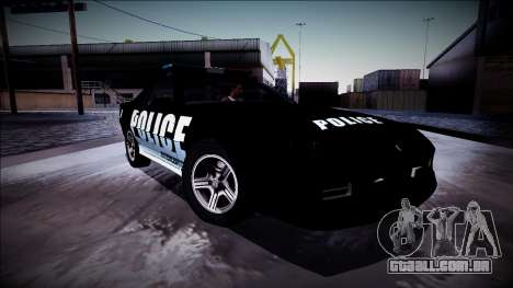 Chevrolet Camaro 1990 IROC-Z Police Interceptor para GTA San Andreas vista inferior