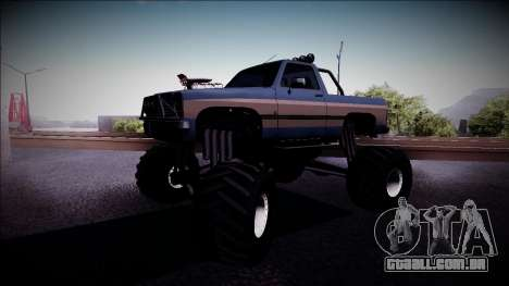 Rancher Monster Truck para GTA San Andreas esquerda vista