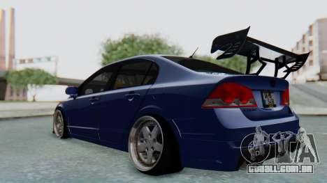 Honda Mugen FD6 para GTA San Andreas traseira esquerda vista