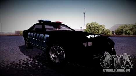 Chevrolet Camaro 1990 IROC-Z Police Interceptor para GTA San Andreas traseira esquerda vista