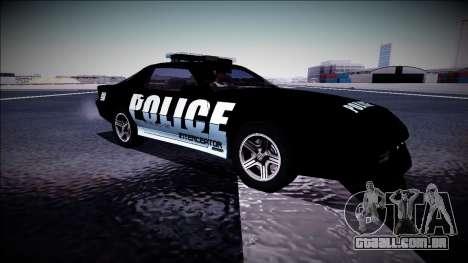 Chevrolet Camaro 1990 IROC-Z Police Interceptor para GTA San Andreas vista interior