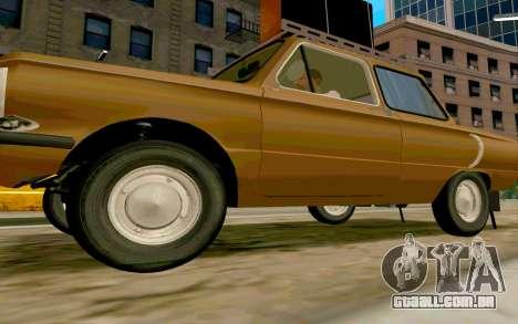 ZAZ 968 para GTA San Andreas esquerda vista