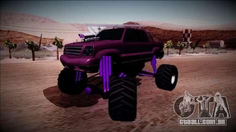 GTA 4 Cavalcade FXT Monster Truck para GTA San Andreas traseira esquerda vista