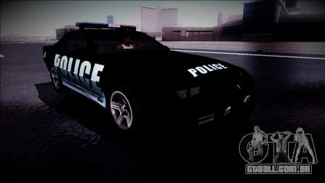 Chevrolet Camaro 1990 IROC-Z Police Interceptor para GTA San Andreas vista direita