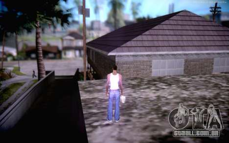 New CJ Home para GTA San Andreas por diante tela