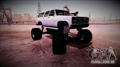Rancher XL Monster Truck para GTA San Andreas vista inferior