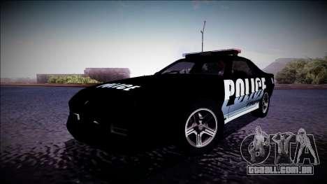 Chevrolet Camaro 1990 IROC-Z Police Interceptor para GTA San Andreas esquerda vista