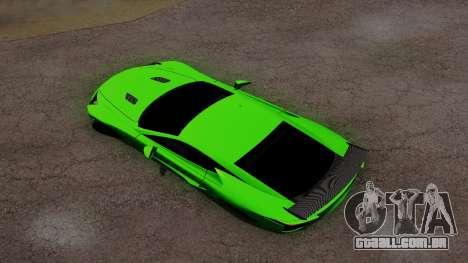 Lexus LFA para GTA San Andreas vista interior