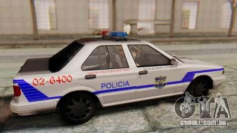 Nissan Sentra B13 2004 Patrol with a Salvadoran  para GTA San Andreas vista direita