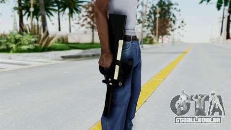 P90 Gold Silenced para GTA San Andreas terceira tela