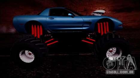 Chevrolet Corvette C5 Monster Truck para GTA San Andreas vista superior