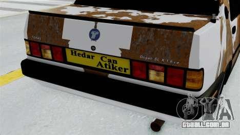 Tofas Dogan Modified para GTA San Andreas vista traseira