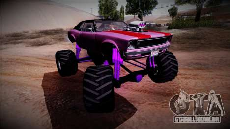 GTA 5 Declasse Tampa Monster Truck para GTA San Andreas vista superior