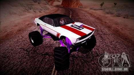 GTA 5 Declasse Tampa Monster Truck para GTA San Andreas vista interior