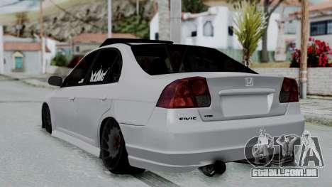 Honda Civic Vtec Special para GTA San Andreas esquerda vista