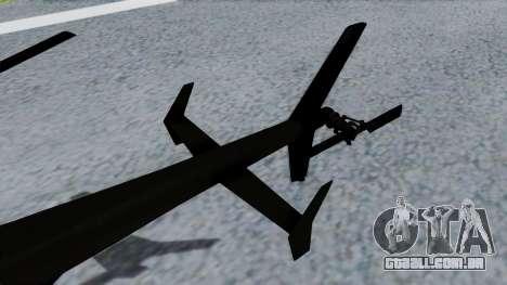 MH-9 Hummingbird Recon para GTA San Andreas traseira esquerda vista