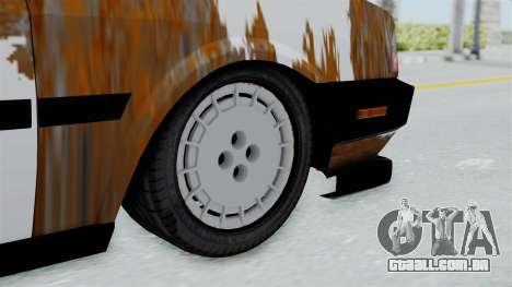 Tofas Dogan Modified para GTA San Andreas traseira esquerda vista