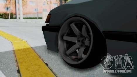Proton Iswara Stance Build para GTA San Andreas traseira esquerda vista