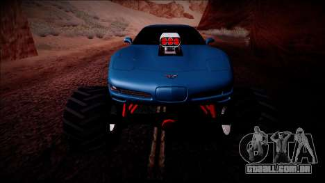 Chevrolet Corvette C5 Monster Truck para GTA San Andreas interior