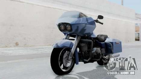 Harley-Davidson Road Glide para GTA San Andreas traseira esquerda vista