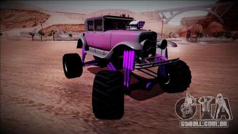 GTA 5 Albany Roosevelt Monster Truck para GTA San Andreas vista traseira
