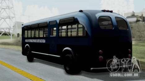 Parry Bus Police Bus 1949 - 1953 Mafia 2 para GTA San Andreas esquerda vista