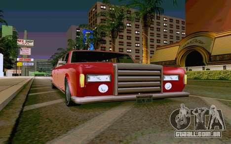 Stafford Limousine v2.0 para GTA San Andreas traseira esquerda vista