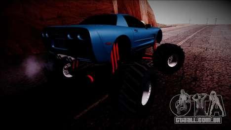 Chevrolet Corvette C5 Monster Truck para GTA San Andreas vista inferior