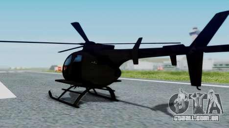 MH-9 Hummingbird Recon para GTA San Andreas esquerda vista