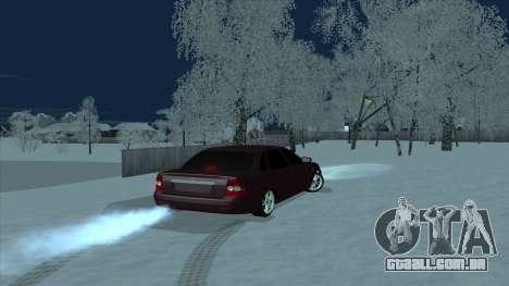 Lada 2170 Limousine para GTA San Andreas esquerda vista