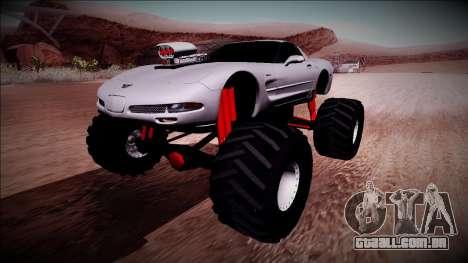 Chevrolet Corvette C5 Monster Truck para GTA San Andreas